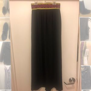 High wasted maxi skirt